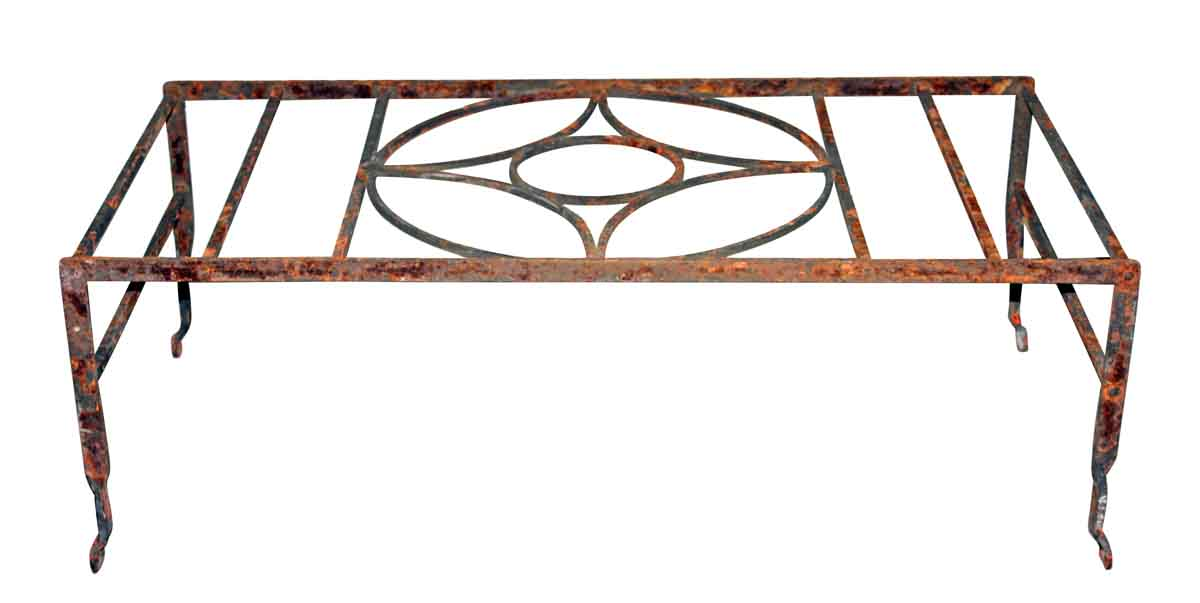 Iron Window Guard with Diamond Motif