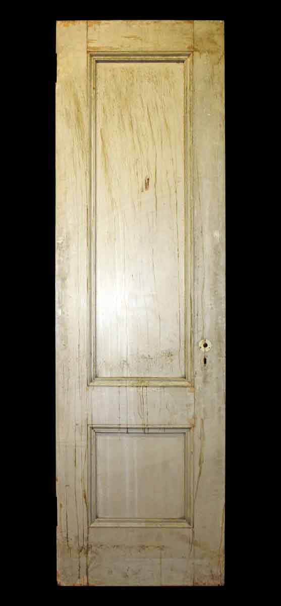 Double Vertical Panel Door With Crackle Paint Olde Good