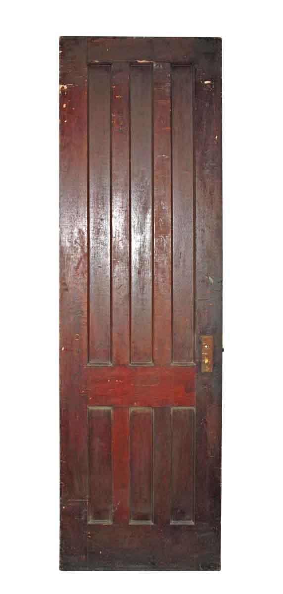 Six Vertical Paneled Door