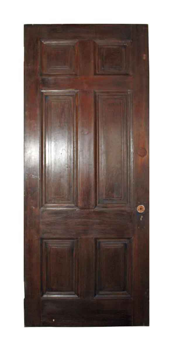 Six vertical raised panel wood door olde good things 6 panel hardwood interior doors