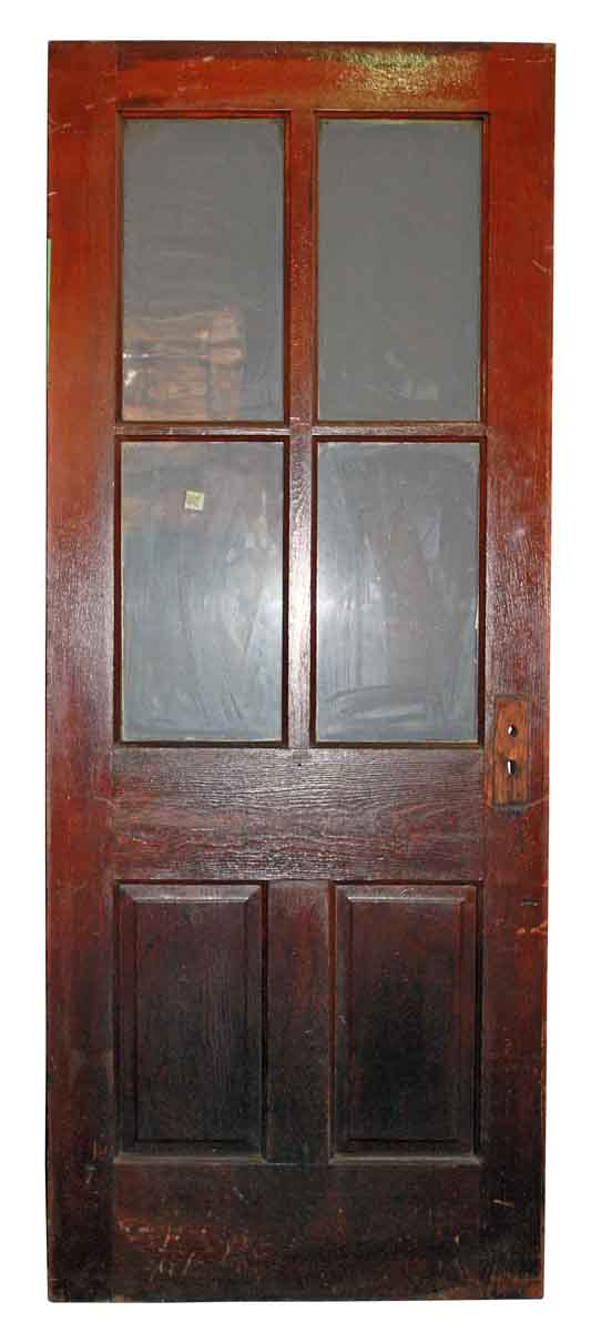 Six Verticle Panel Door with Glass