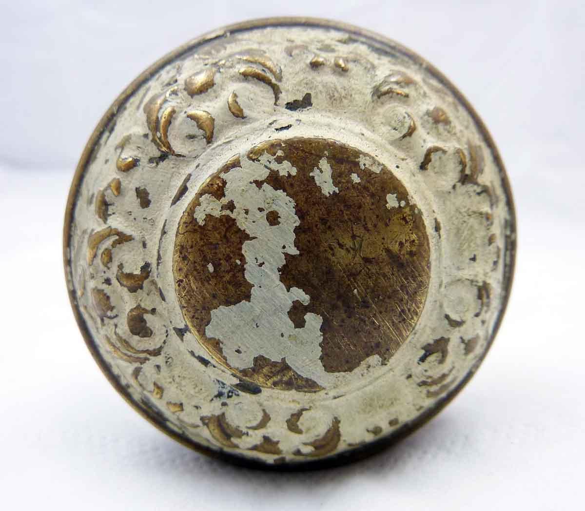 Doorknob Set Painted Cream