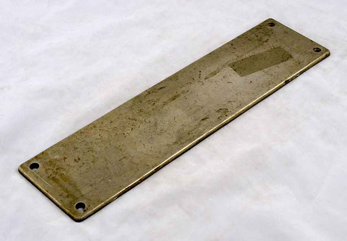 Nickel Over Brass Push Plate