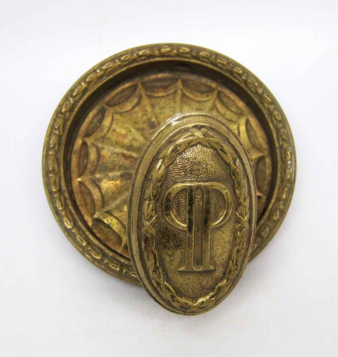 Ornate Brass Knob from New York Plaza Hotel