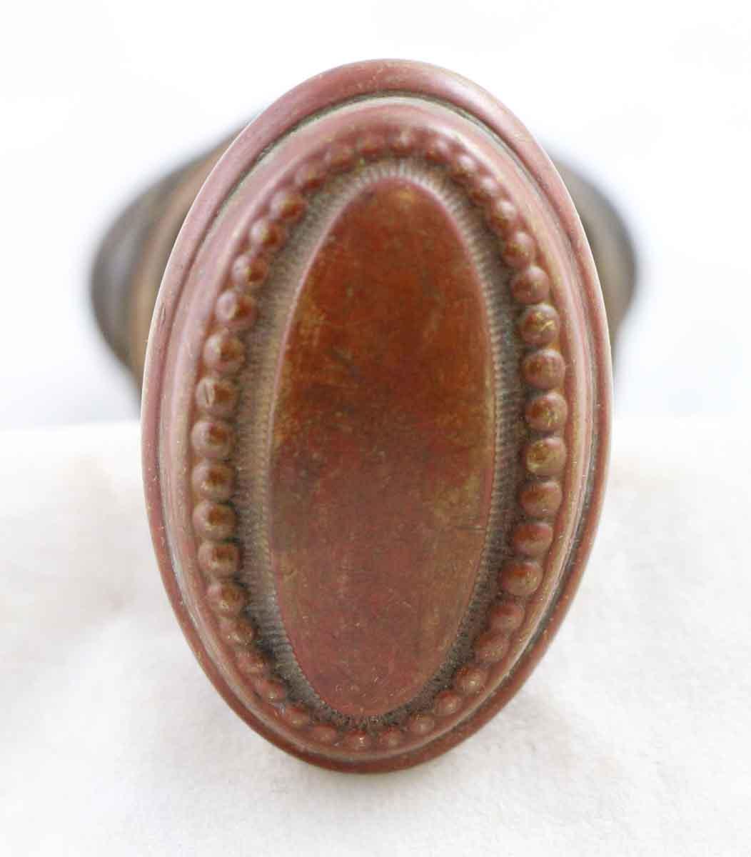 Oval Brass Doorknob Set