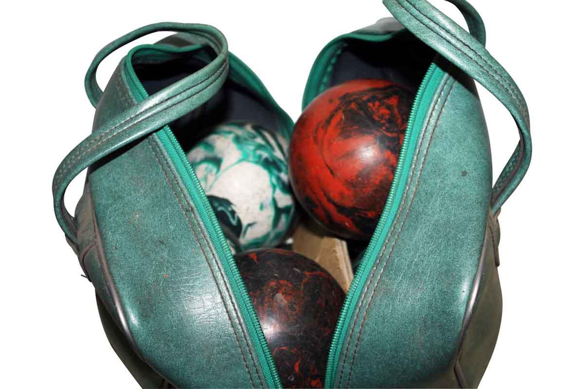 Leather Handbag with Bowling Balls