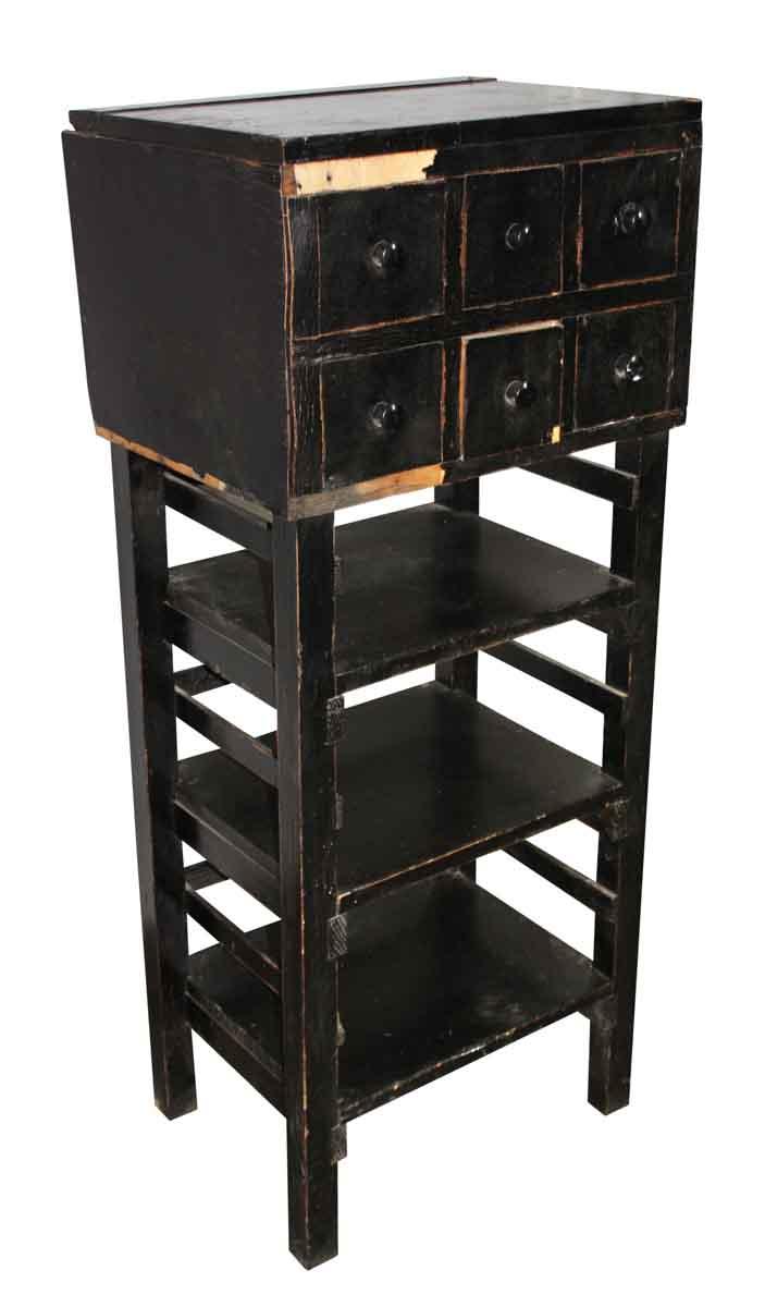 Wooden Black Cabinet