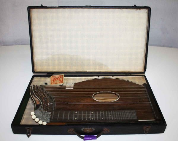 Antique Zither with Case