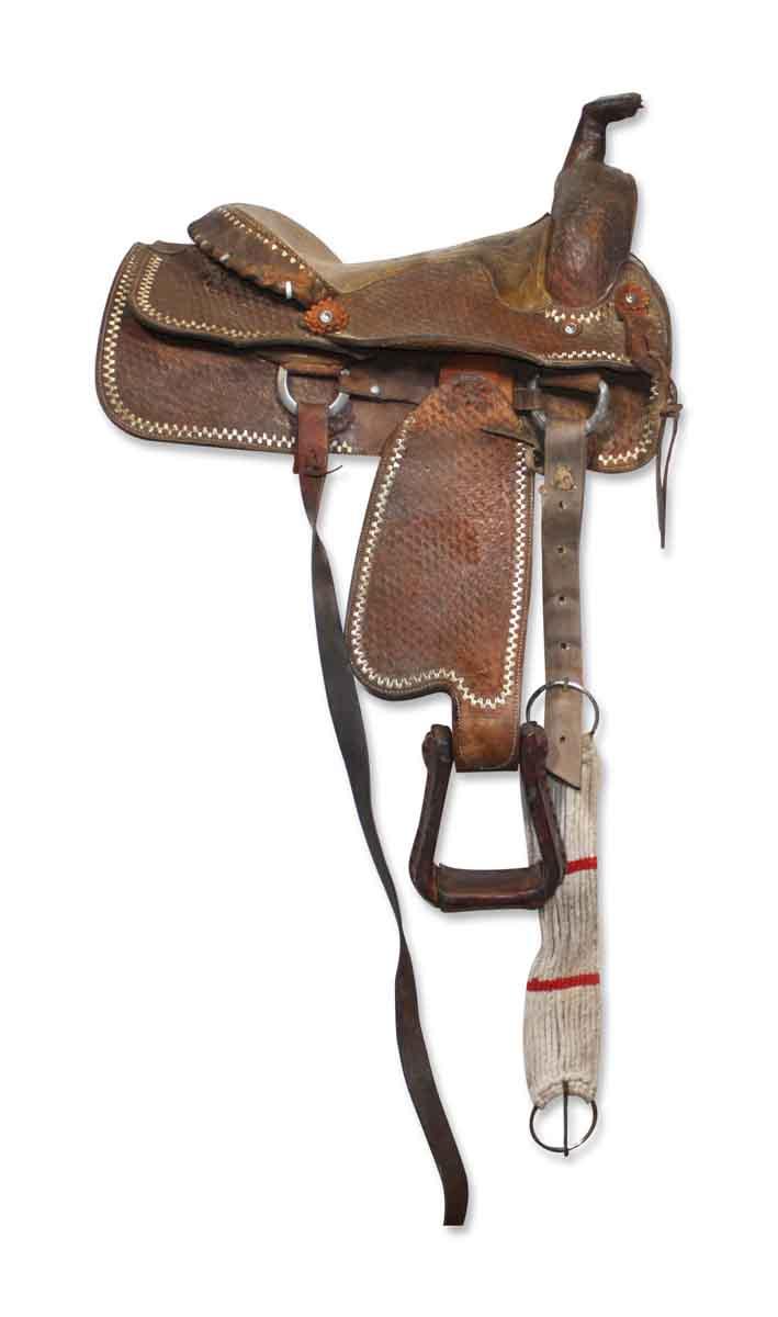 Vintage Hand Tooled Horse Saddle