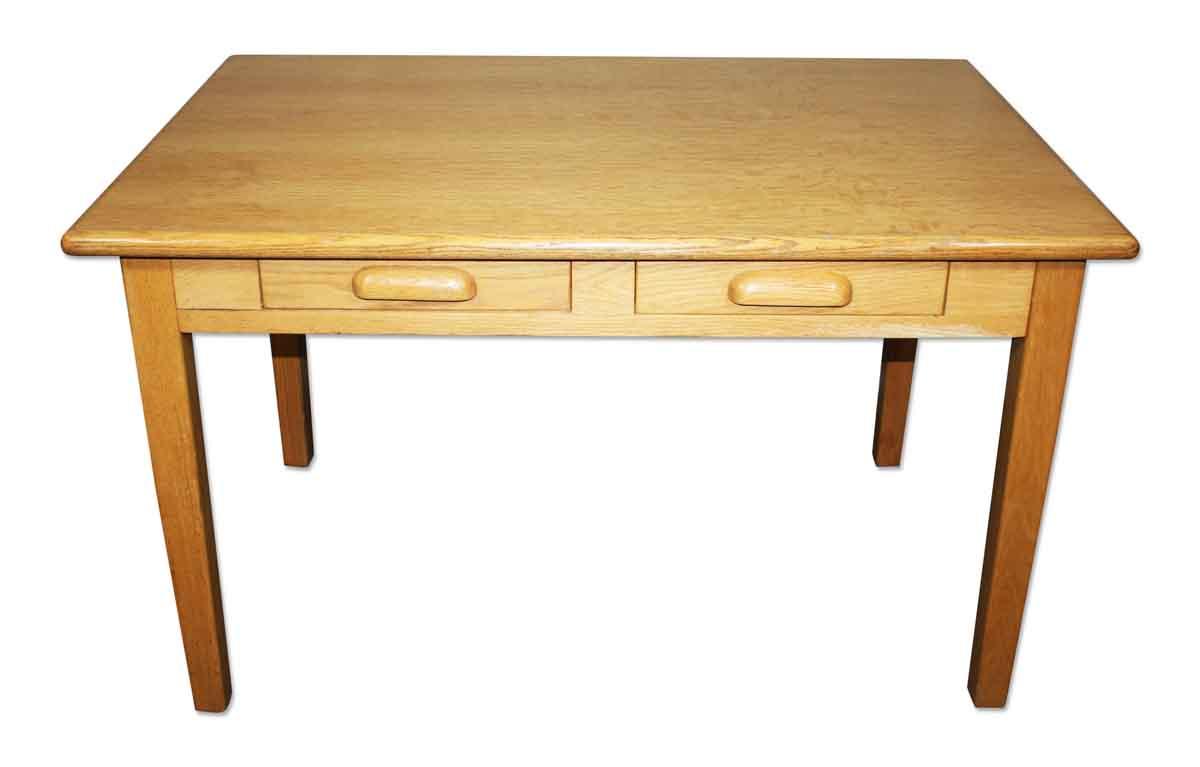 Antique Wooden Light Tiger Oak Desk