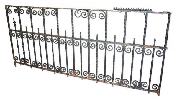 Antique Solid Curled Iron Fence