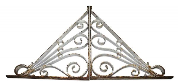 Antique Wrought Iron White Brackets