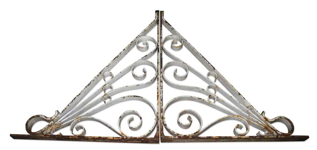 Antique Wrought Iron White Brackets