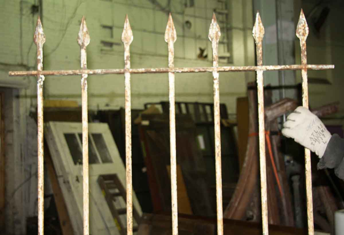 Antique Wrought Iron Window Guards With Hand Hammered