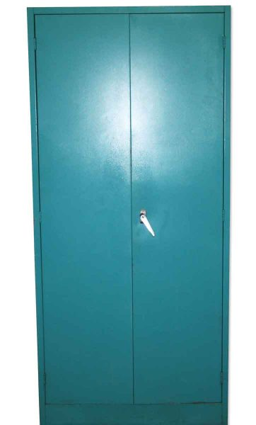Teal Blue Metal Storage Cabinet