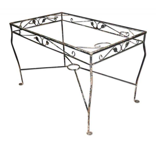 Black Iron Patio Table Base