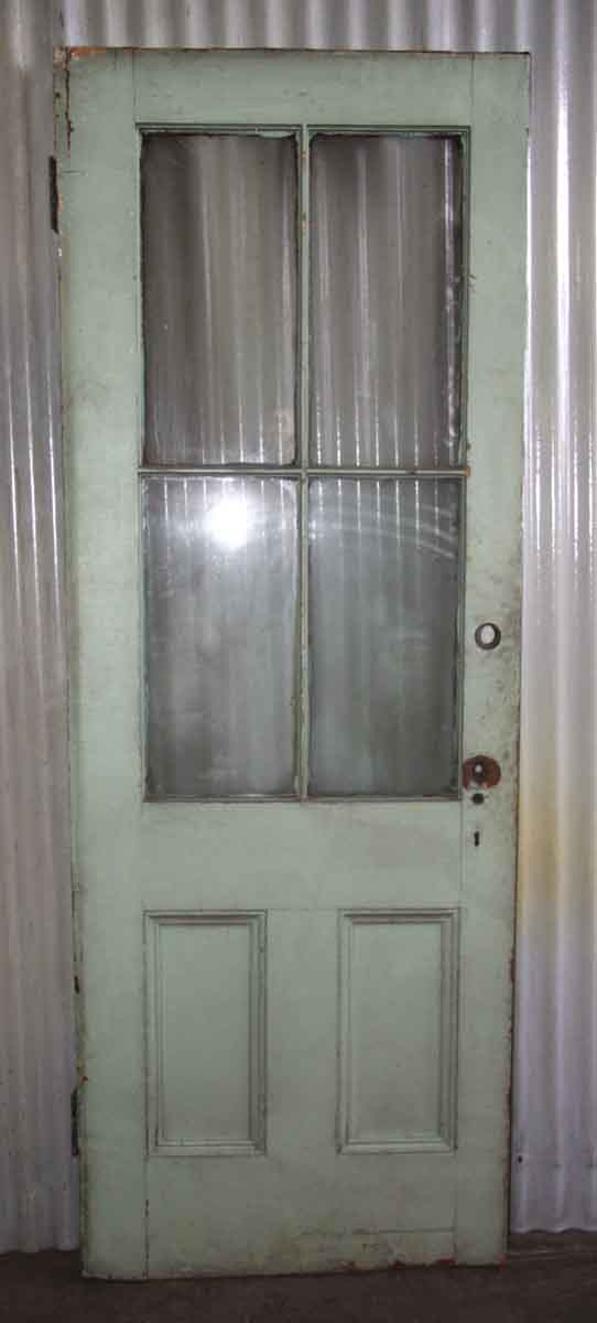 Crackled Paint Door with Six Panels