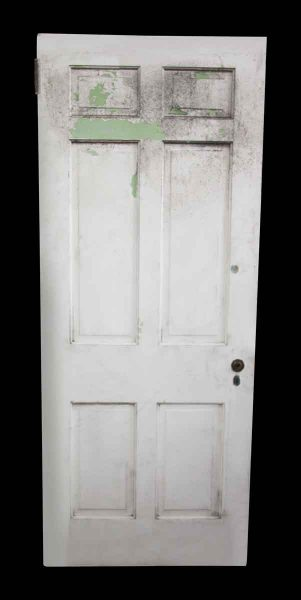 White Door with Six Vertical Panels