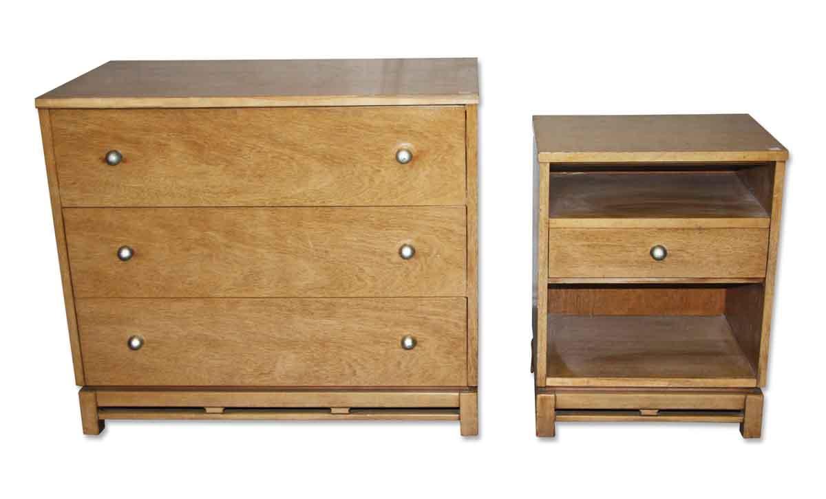 Wooden Dresser & Night Stand