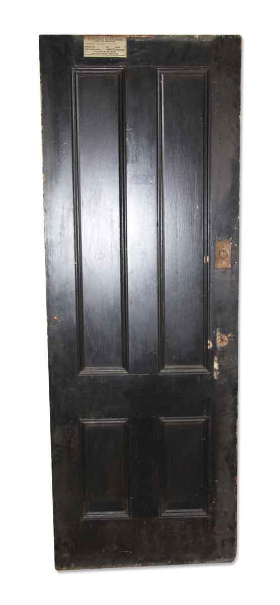 Original Black Four Vertical Panel Door