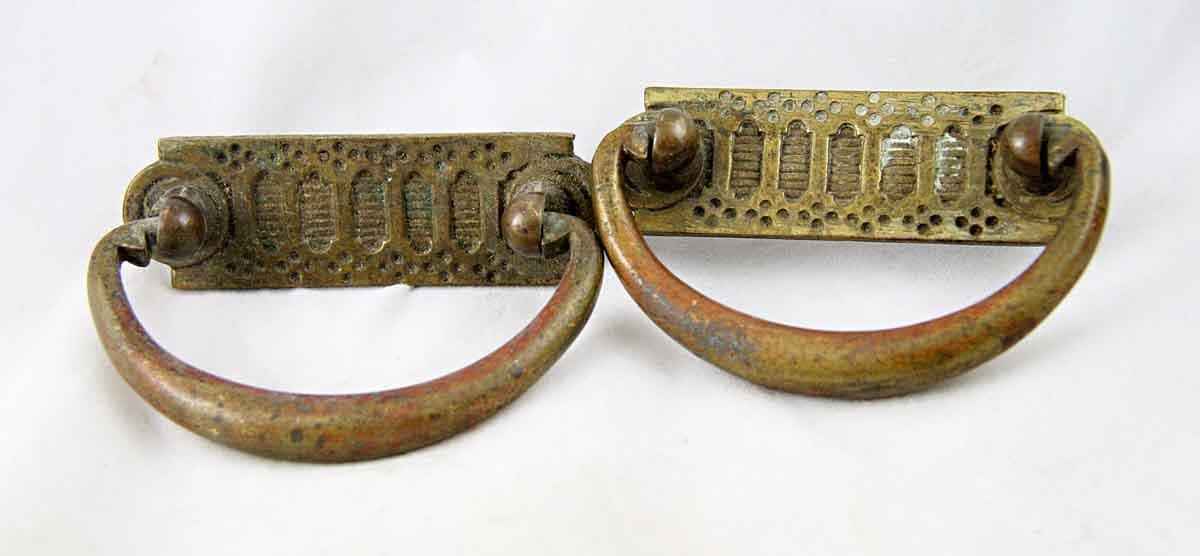 Victorian Brass Dresser Pulls