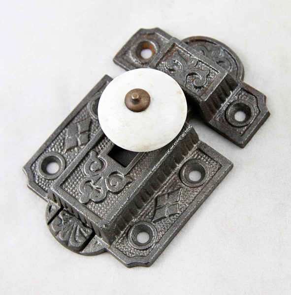 Cabinet Latch with Porcelain Knob