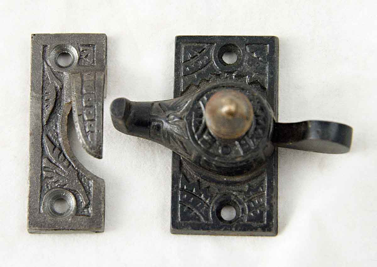 Ornate Window Latch With Brass Accent Olde Good Things