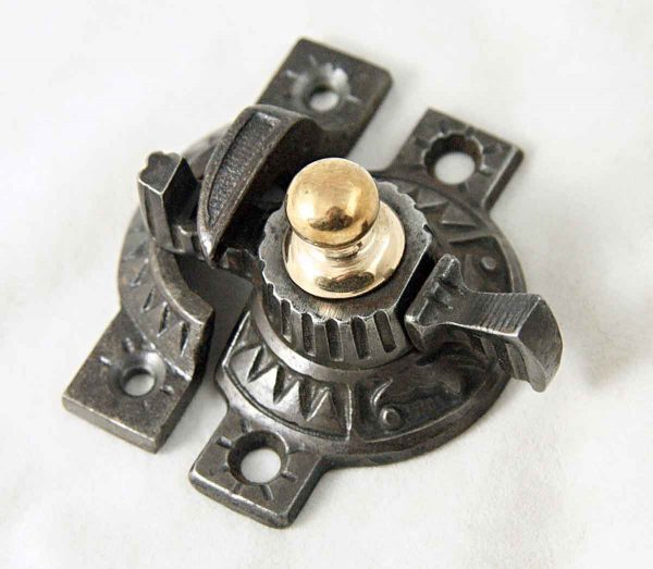 Window Latch with Brass Accent