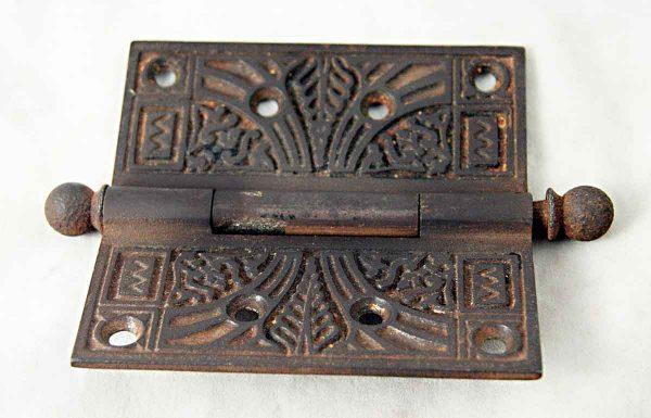 Victorian Nickel Over Iron Door Hinge