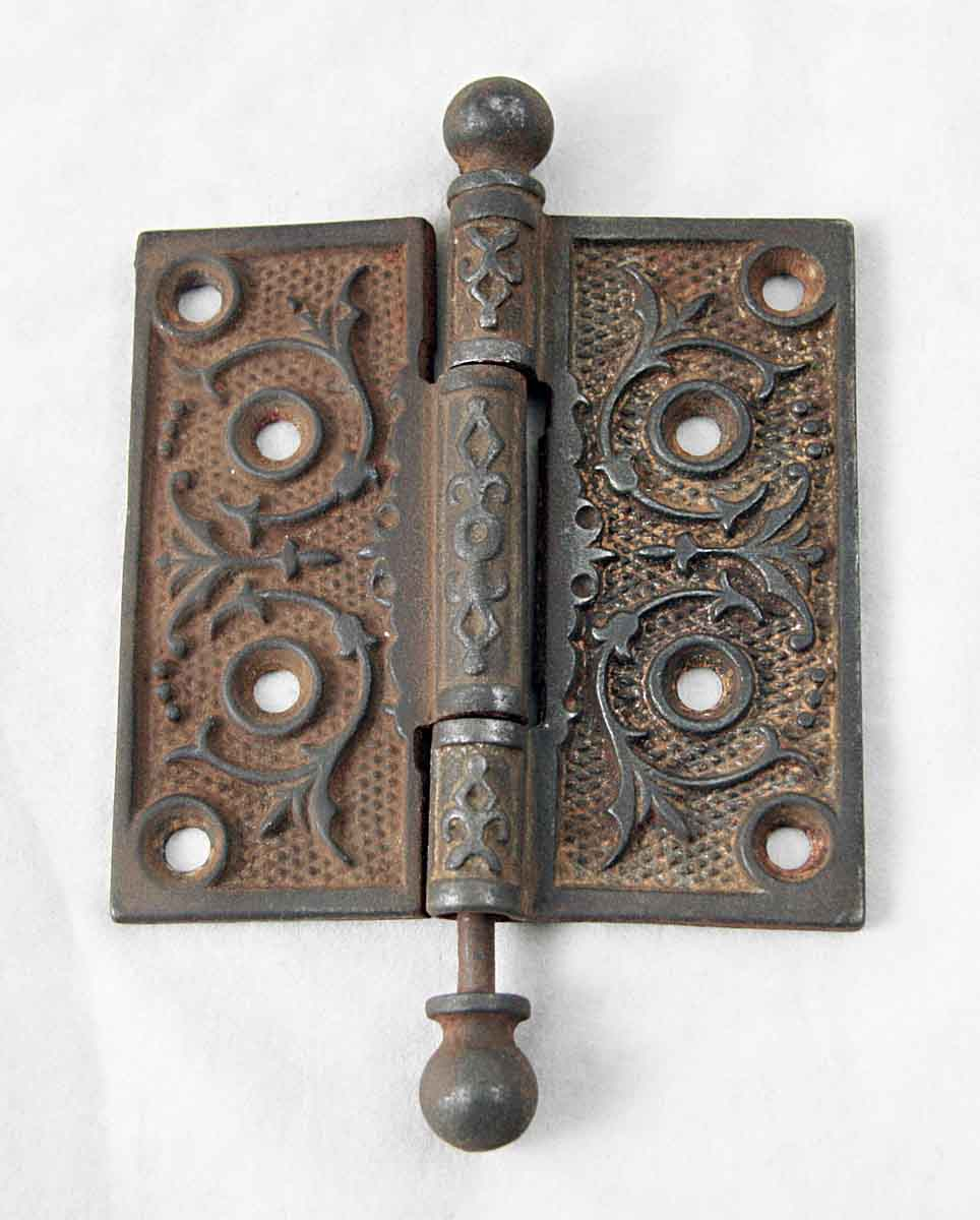 Victorian Swirl Iron Door Hinge