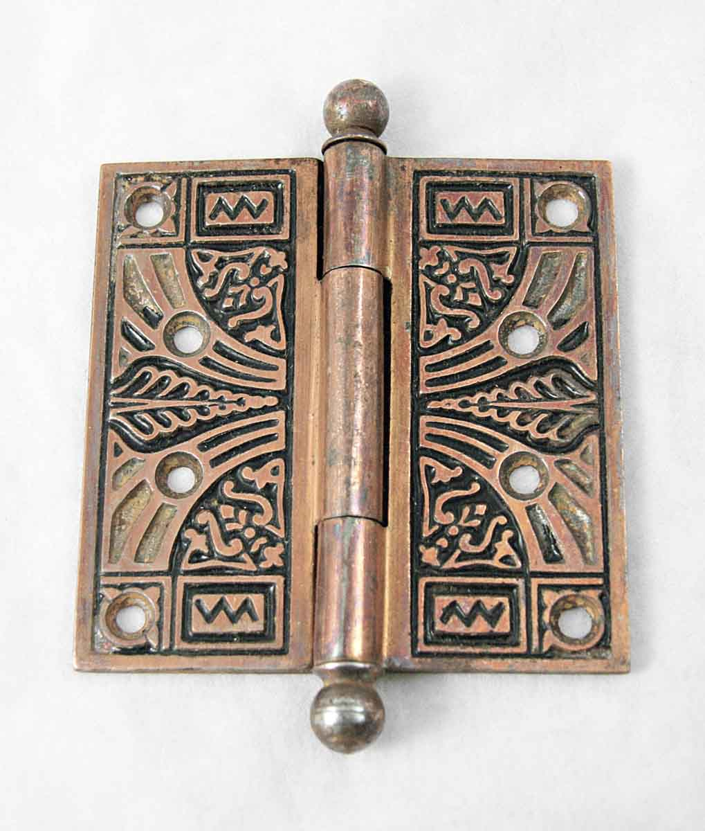 Copper Plated Cast Iron Victorian Door Hinge