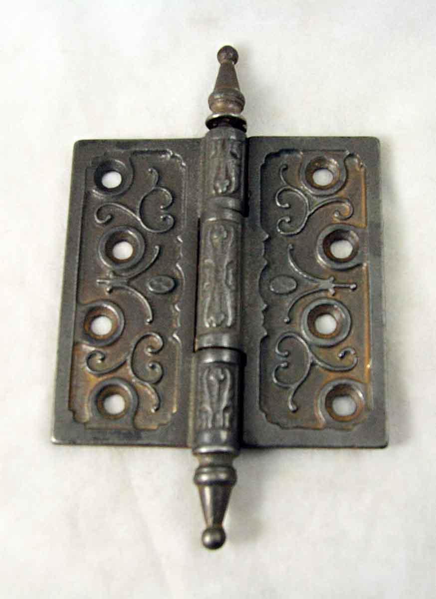 Ornate Iron Victorian Door Hinge