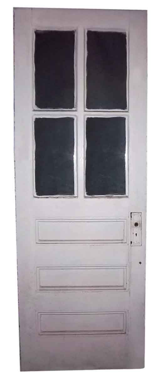 Vintage Kitchen Door with 4 Glass Lites