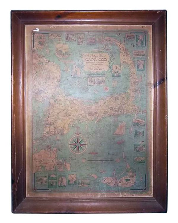 Framed Map of Cape Cod