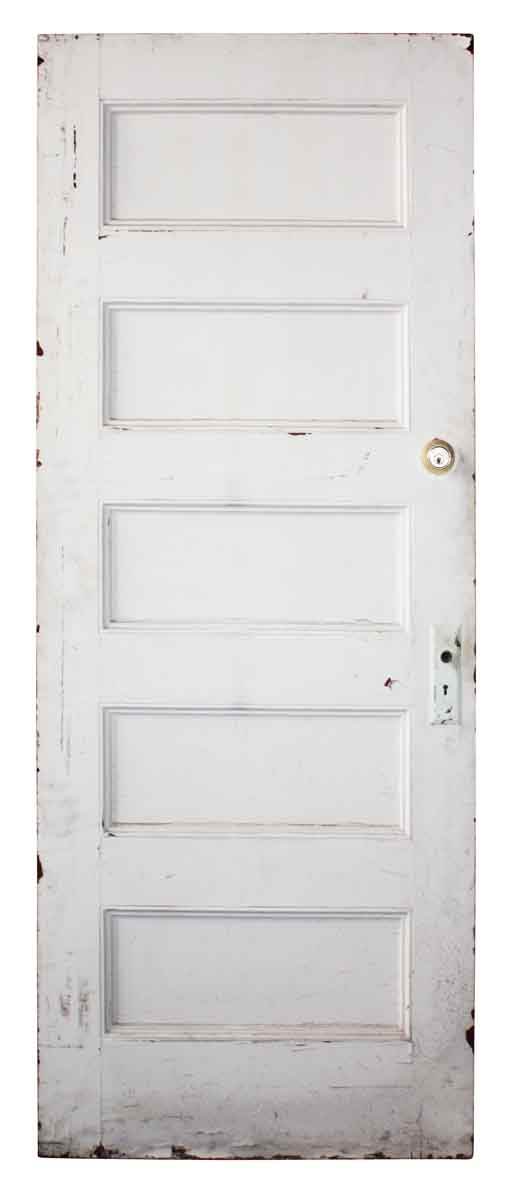 Horizontal Five Panel White Door