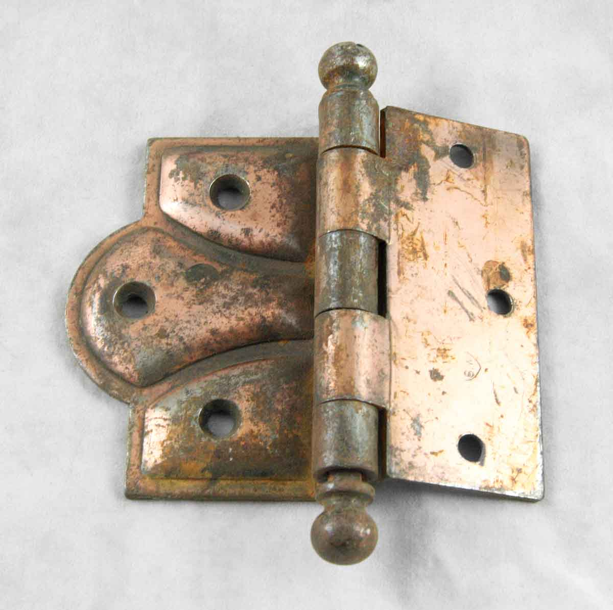 Ornate Copper Over Steel Furniture Hinge