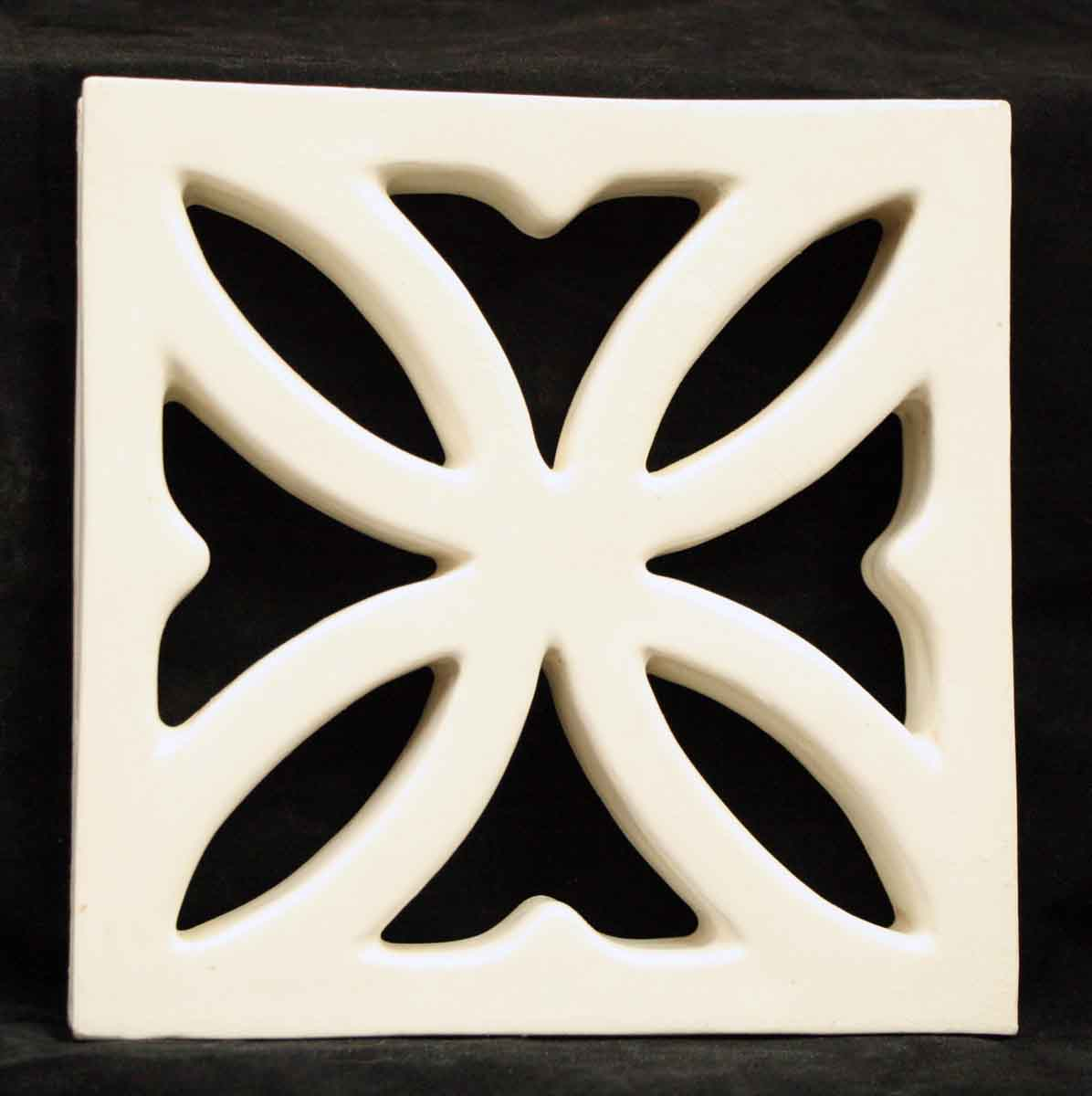 White Cut Out Geometric Tile
