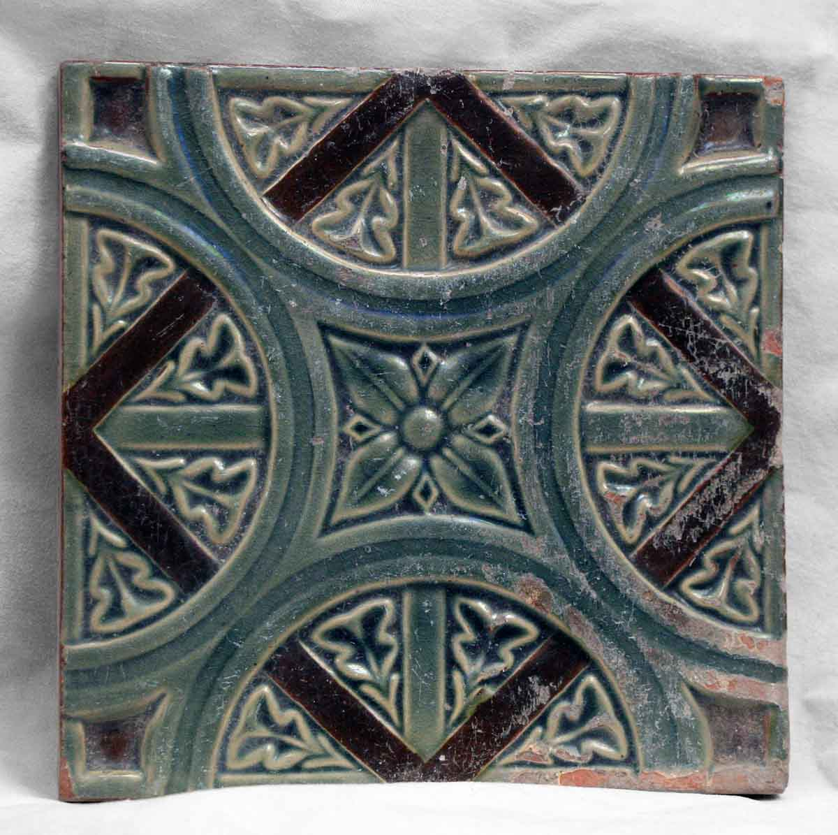 Blue & Brown Geometric Tile