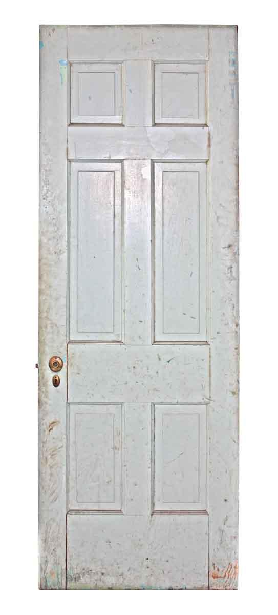 Six Panel Reclaimed White Door