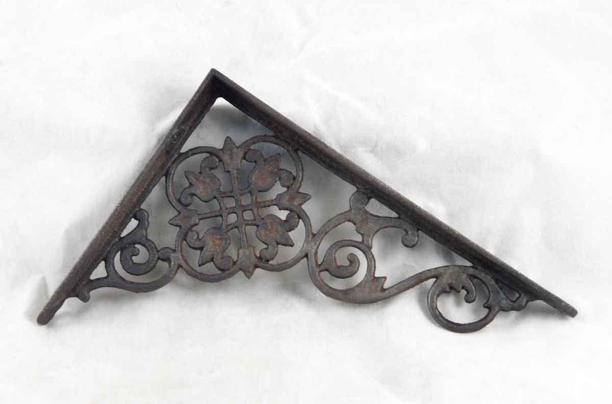 Original Ornate Cast Iron Antique Victorian Shelf Brackets