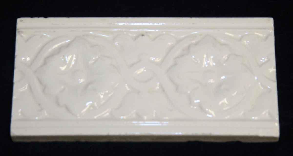 White Floral Tile