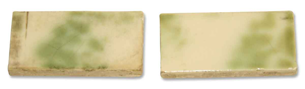 Green and White Fireplace Tile Set