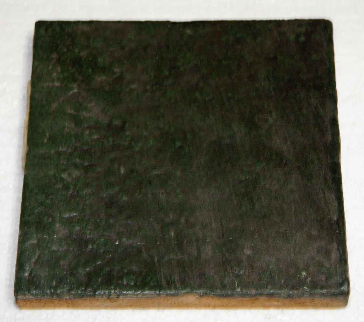 Antique Dark Green Textured Tile Olde Good Things