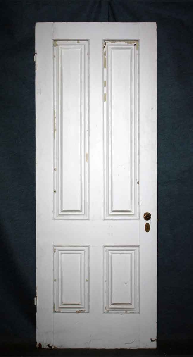 Four Panel Wood Door With Hardware Olde Good Things