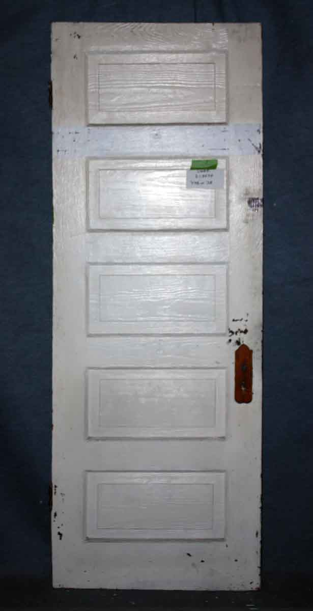 Five Horizontal Wood Panel Door