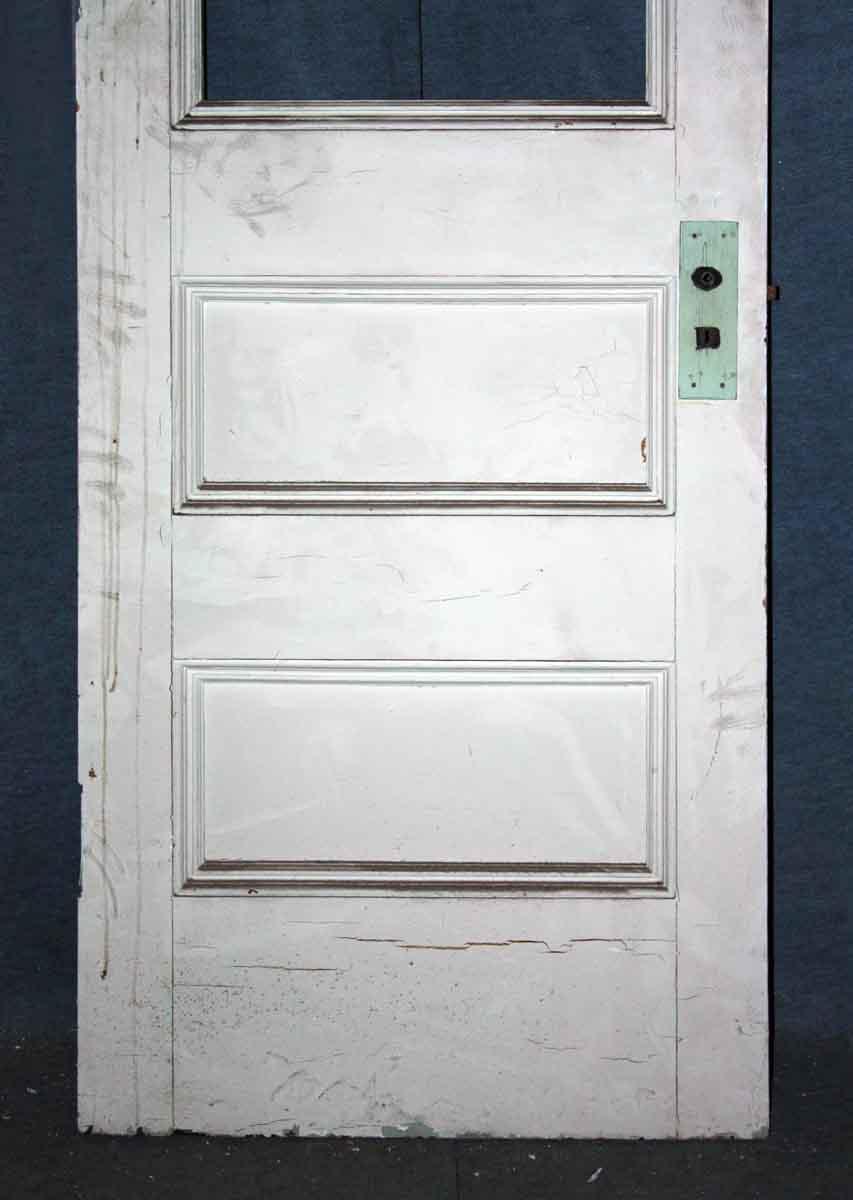 Half Glass Wood Three Panel Door Olde Good Things