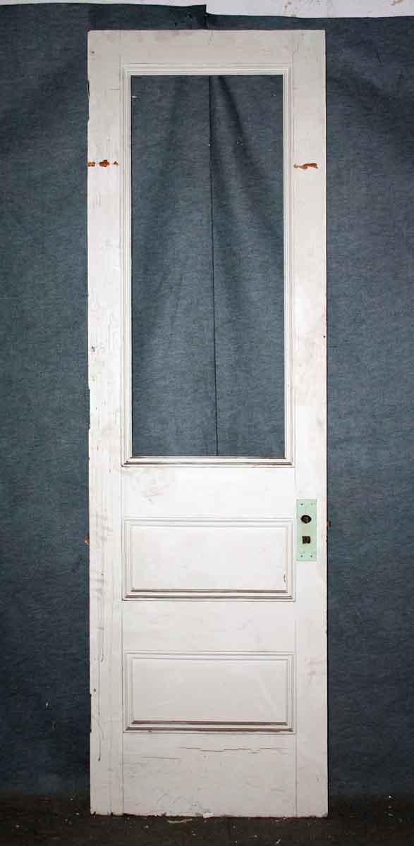 Half Glass & Wood Three Panel Door