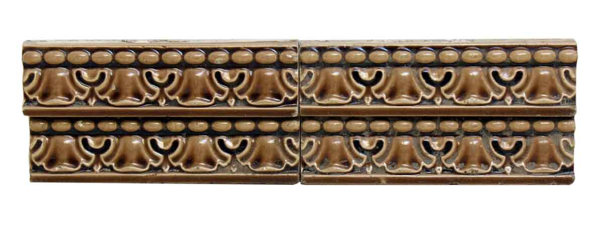 Brown Geometric Ceramic Tile