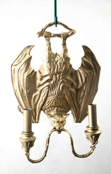 Golden Bronze Bat Sconce