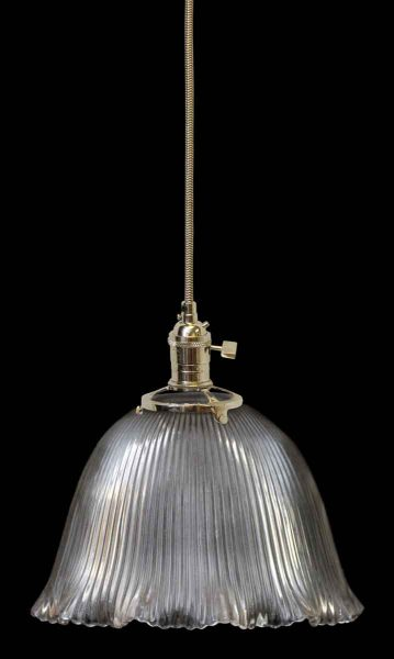 Holophane Antique Ribbed Glass Shade